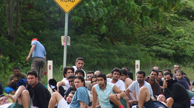 Asylum Seekers escaped from the Christmas Island Detention Centre Mar 12.