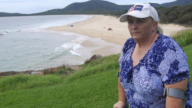Gutted ... former surf lifesaving coach Jacqueline Gray at South West Rocks.