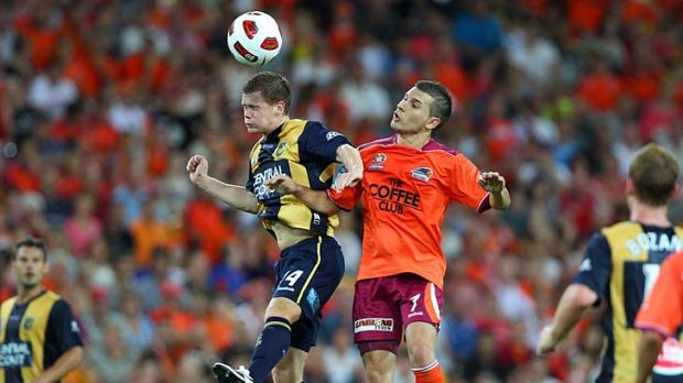 Take no prisoners: Brisbane Roar and Central Coast Mariners go into battle for the 2011 A-League grand final trophy.