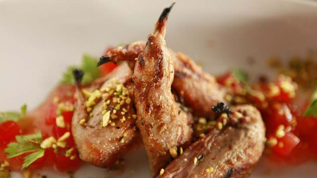 A must-try dish ... Chargrilled quail with watermelon.