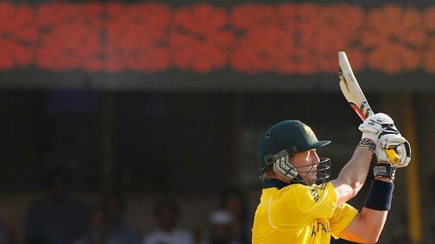 Run of outs: Australian middle-order batsman Cameron White's World Cup has been riddled with low scores, this time ...