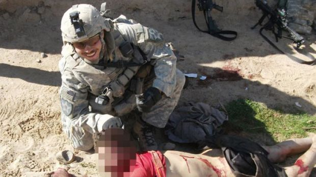 The US military has apologised for the 'repugnant' photos.