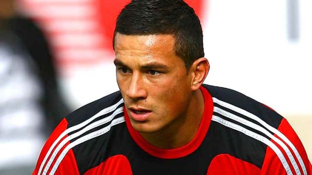 Powerful runner . . .  Sonny Bill Williams of the Crusaders.