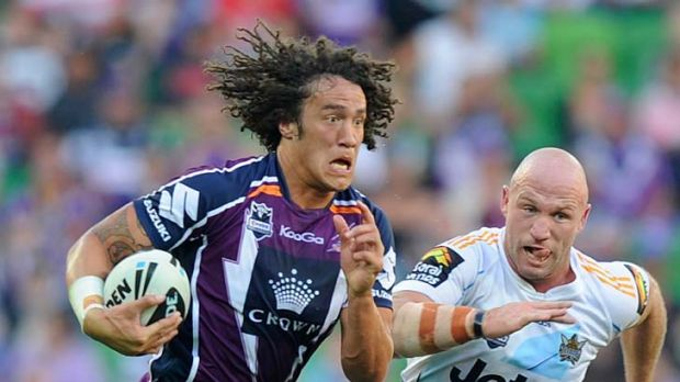 Taking the lead: Melbourne Storm's Kevin Proctor (left) is shouldering more responsibility.
