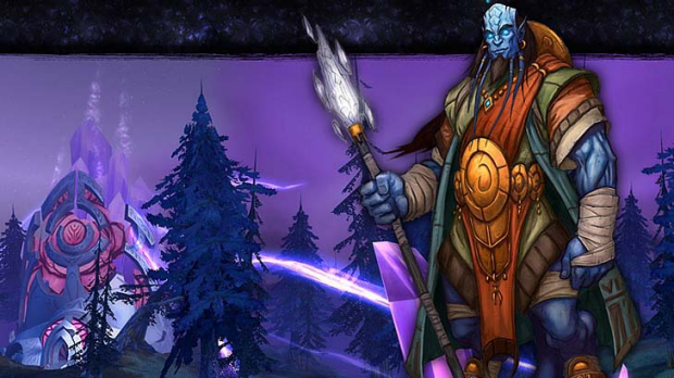 A promotional shot of the World of Warcraft game.