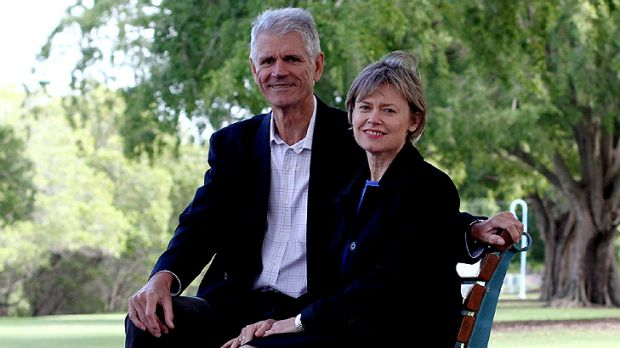 Drew Hutton with fellow Greens co-founder and wife Libby Connors last year.