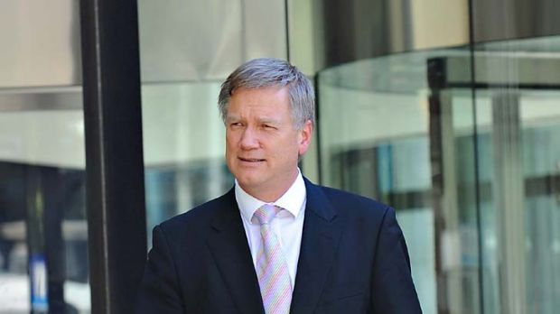<em>Herald Sun</em> columnist Andrew Bolt leaves  court. He occasionally sighed heavily and looked annoyed as he gave ...