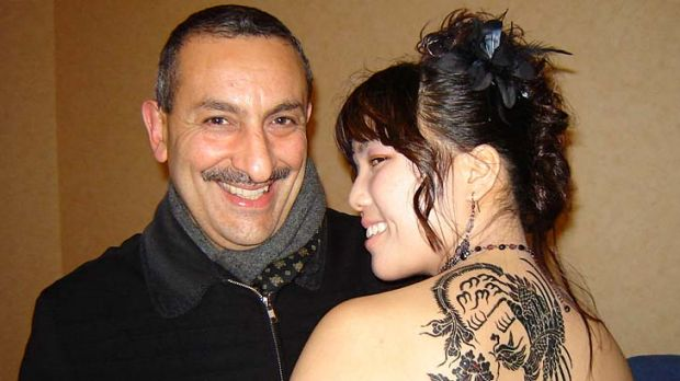Raymond Mellick with one of his tattoos.