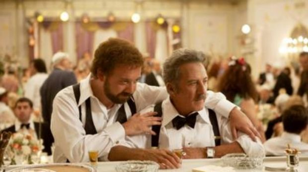 Last drinks: A freshly married Barney (Paul Giamatti) shares a drink with his dad (Dustin hoffman) before his life goes ...