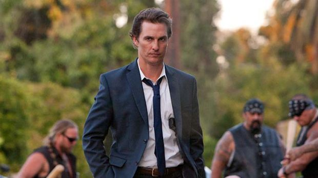 Rough justice ... Matthew McConaughey shows his serious side as Mickey Haller.