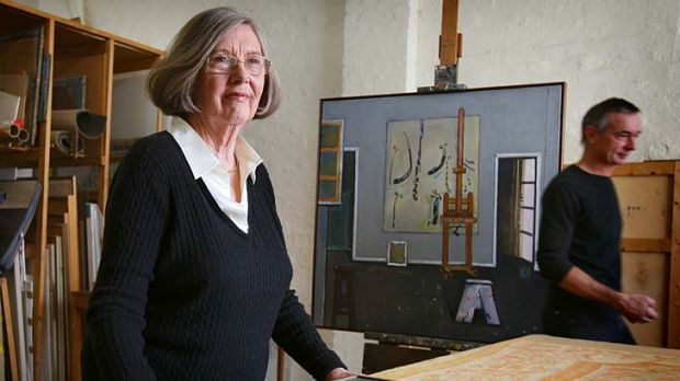 Fred Williams's art executor, wife Lyn.
