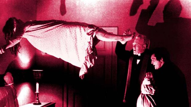 "Unforgettable ... a scene from the classic film ""The Exorcist""."