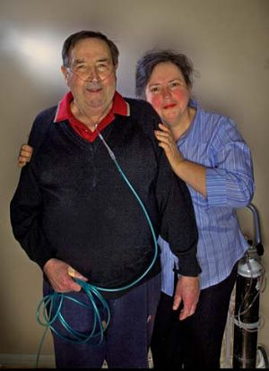 Ron Lennox, who has inoperable cancer, with wife Jo.