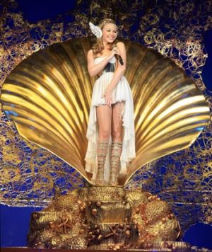 Kylie Minogue performs in Cardiff last month.