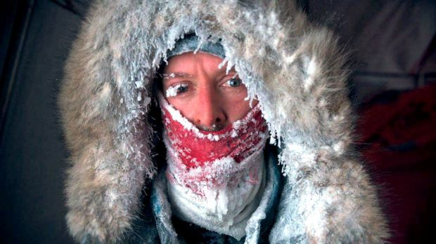Adrian McCallum after a day of trekking in the Arctic.