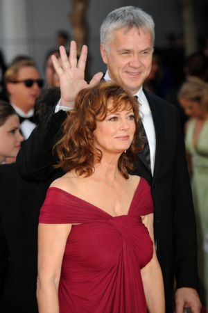 With long-time partner Susan Sarandon before their split in 2009.