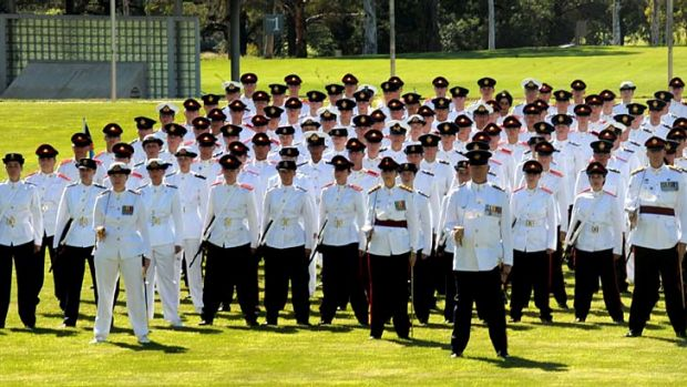 New cadets at the Australian Defence Force Academy.