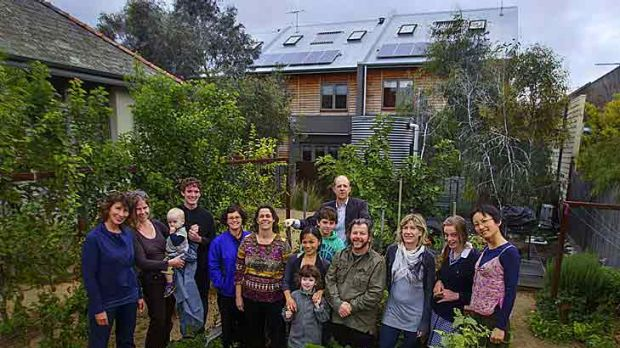 Urban Coup inner-city co-housing members (from left) Eleni Rivers, Bryony Edwards, Lucian Whitehead, Rowan Rivers ...