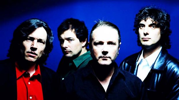 One man down ... Marty Willson-Piper, left, with now ex-bandmates Tim Powles, Steve Kilbey and Peter Koppes in 2011.