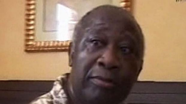 Captured ... Laurent Gbagbo has called for the fighting to end.