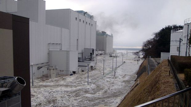 How it all began ... TEPCO has released pictures of flooding at its Fukushima Dai-ichi nuclear power plant when the ...