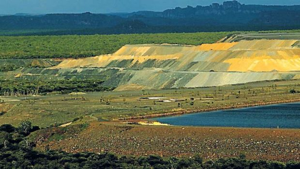 An aerial view of the Ranger uranium mine.