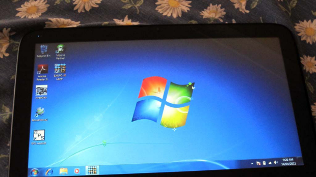The standard Windows 7 UI just doesn't cut it on a tablet.