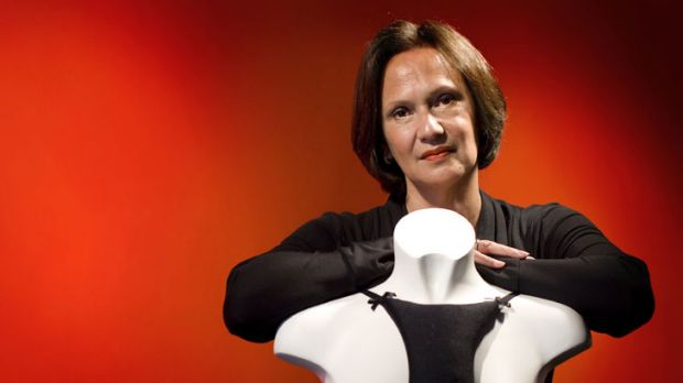 """""""It started out as my secret"""" ... Rachel de Boer with her invention, Le Decolletage."""