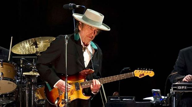 A modern-day Bard ... Dylan — performing in Beijing earlier this month — upholds the vernacular tradition of using ...