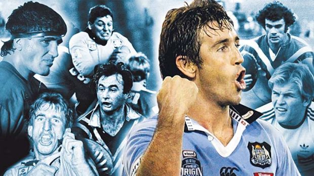 Legends and mentors ... Andrew Johns and, clockwise, Steve Mortimer, Mario Fenech, Steve Roach, Chris Anderson, Don ...