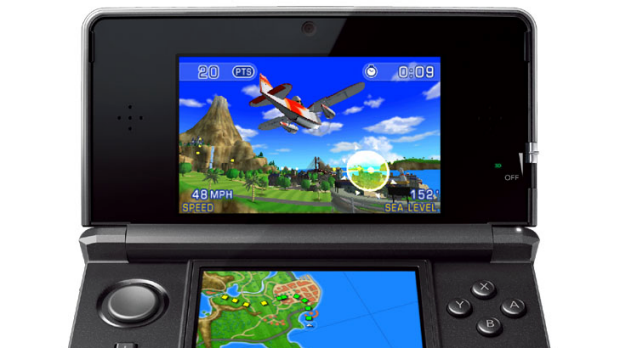 Pilotwings Resort in action on the Nintendo 3DS
