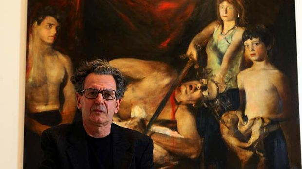 Suffering for his art ... Rodney Pople's controversial entry for the Archibald Prize.