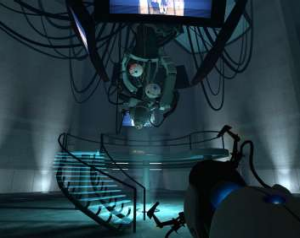"""Nice job breaking it, hero."" GLaDOS, from Portal"