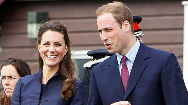 Good match ... Kate Middleton and Prince William this week,