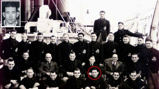 The tour that never was  ... Winston Ide (circled and inset), whose father was Japanese, was a popular member of the ...