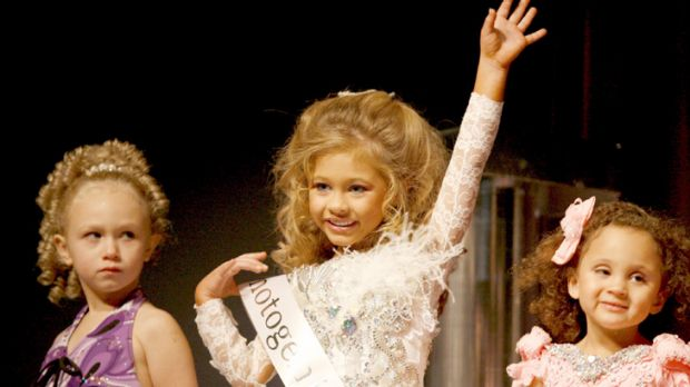 Bizarre ... Destiny Ellis, age 5, competes in America's Southern Celebrity Beauty Pageant last year.