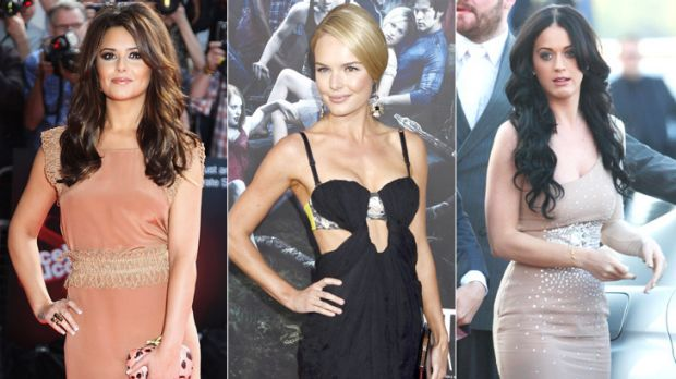 Fashion that appeals to men ... Cheryl Cole, Kate Bosworth and Katy Perry.