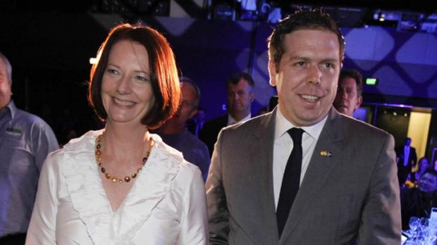 Prime Minister Julia Gillard and AWU national secretary Paul Howes at the AWU's national conference earlier this year.