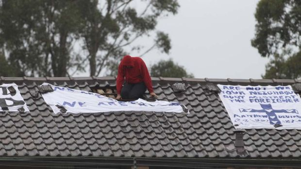 The rooftop protest at Villawood detention centre.