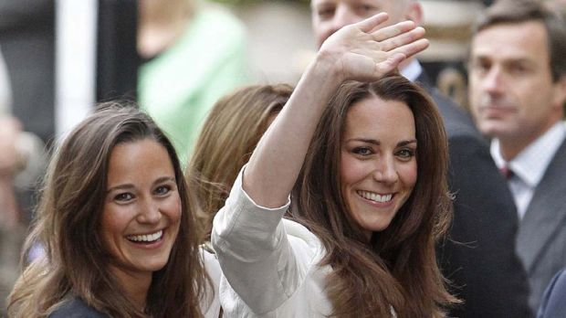 Kate Middleton arrives with her sister Pippa  at The Goring hotel in London.