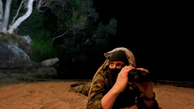 Eco Warrior ... fed up with wildlife pillaging on the northern beaches, Shannon Leckie is donning camouflage gear and ...