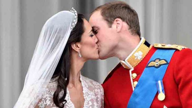 Married for a year ... the Duke and Duchess of Cambridge.
