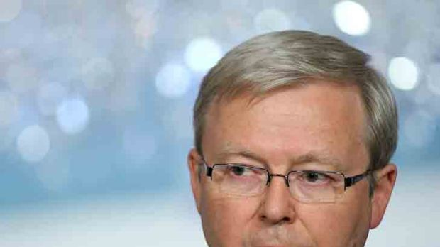 """Foreign Minister Kevin Rudd ... """"time for a grease and oil change""""."""