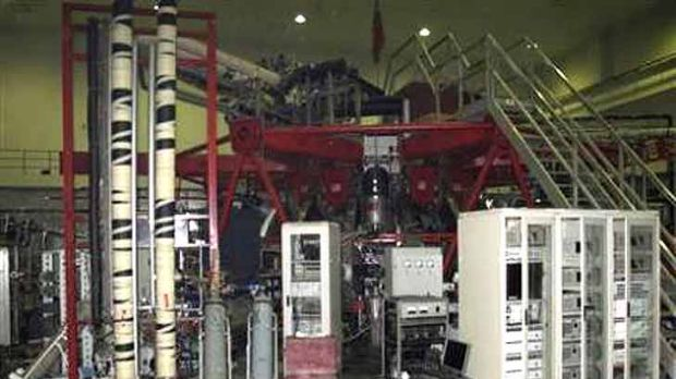 Experimental nuclear fusion reactor is seen at a laboratory in the Southwest Institute of Physics in Chengdu, Sichuan ...