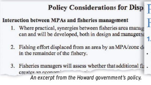 An excerpt from the Howard government's policy.