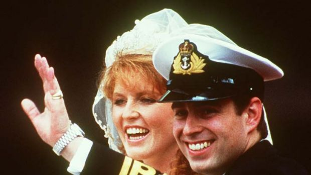Happy day .... Sarah Ferguson married Prince Andrew in 1986.