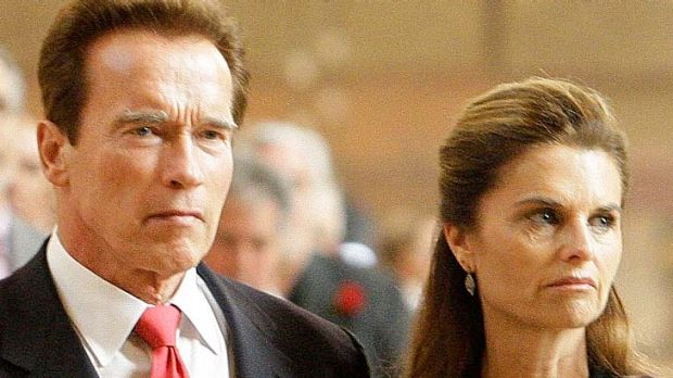 Separated ... Arnold Schwarzenegger and wife Maria Shriver.