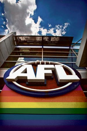 Decorating AFL House in rainbow lights was one of several awareness-raising initiatives.