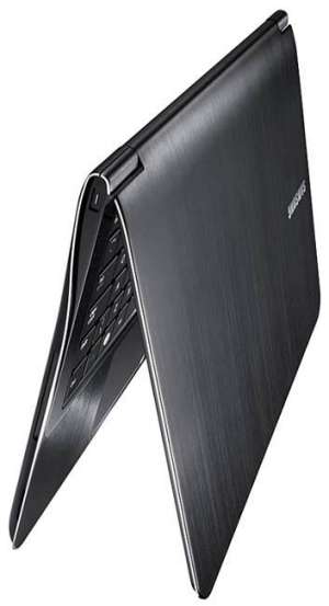 A side view of the laptop.