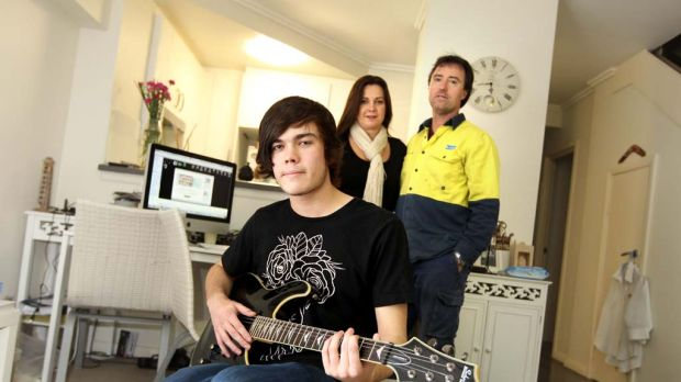 Rock and a hard place ... renters Janelle and Matt Locke, with son Dylan, 17, say paying a mortgage would leave them ...